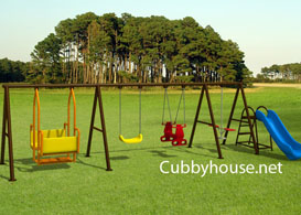 deluxe Outdoor playground swing