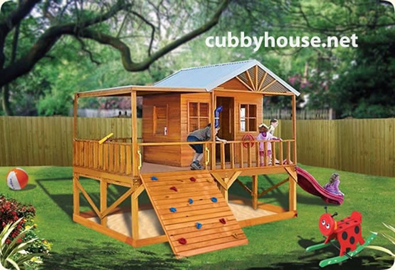 Blue Cockatoo cubby house, australian-made, wooden cubby house, diy cubby house kits, cubby houses