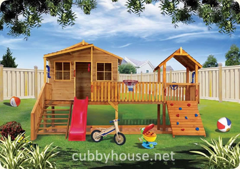 Harrys Hideout cubby house, australian-made, outdoor playground equipment, diy cubby house kits, cubby houses
