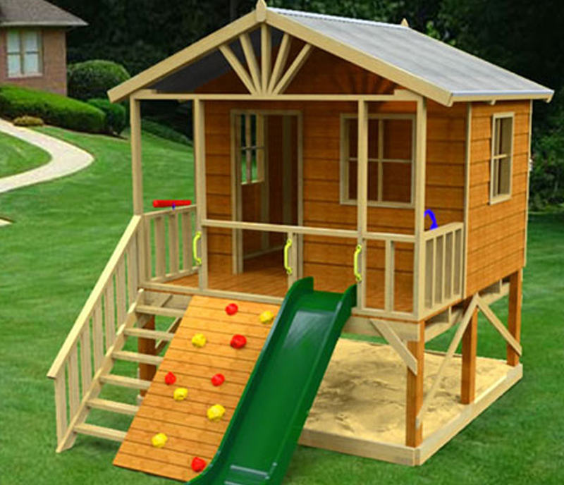 Kookaburra Loft cubby house, australian-made, wooden cubby house, diy cubby house kits, cubby houses