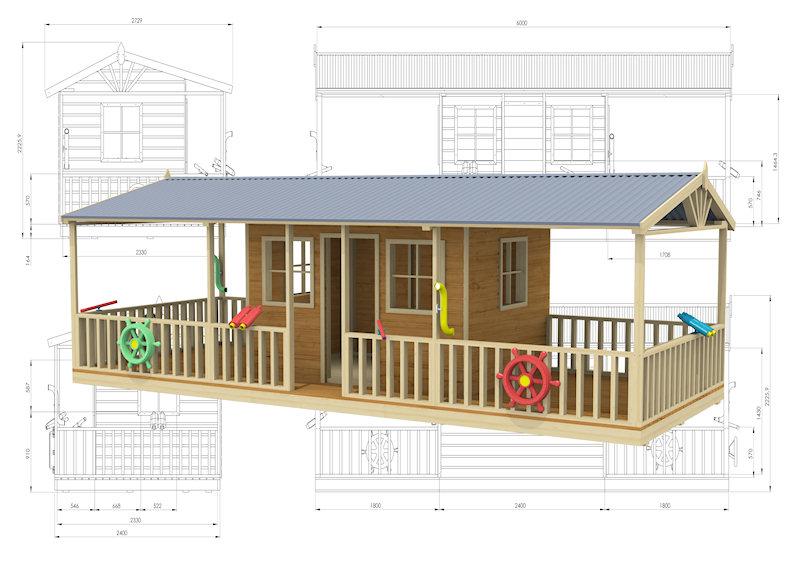 Little River cubby house, australian-made, outdoor playground equipment, diy cubby house kits, cubby houses