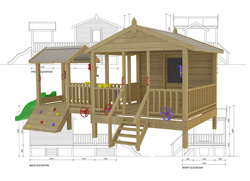 Tanglewood Hideout cubby house, australian-made, kids cubby houses, cubby houses for sale, cubby houses